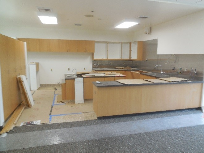 Construction of Station 64 kitchen