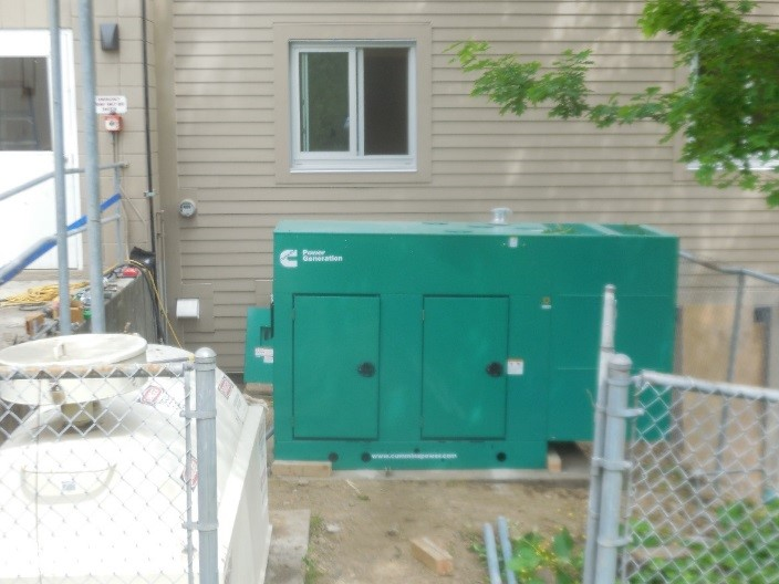 Emergency generator for Station 64