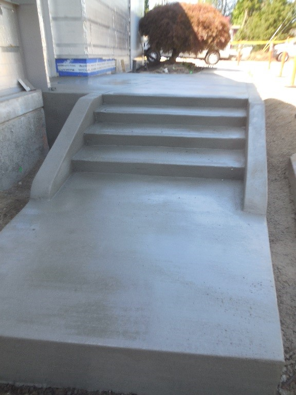 Concrete stairs at Station 64