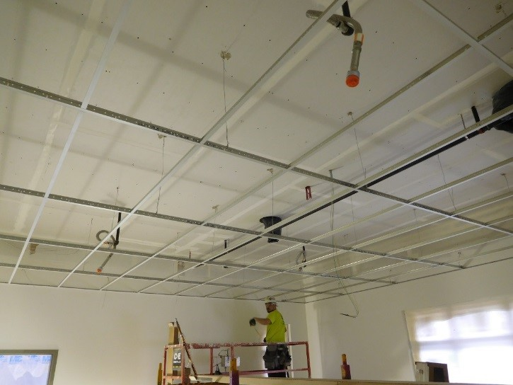 Ceiling work at Station 55