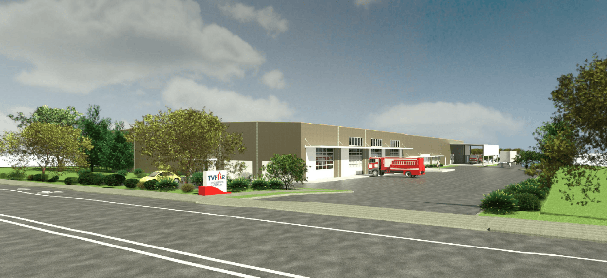 Rendering of Logistics Service Center