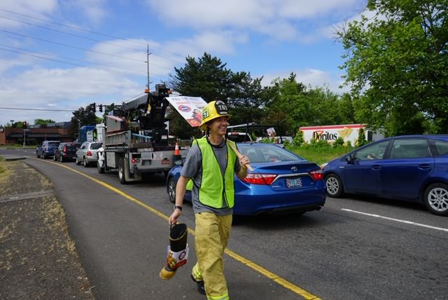 Firefighter Fill the Boot Collection Event