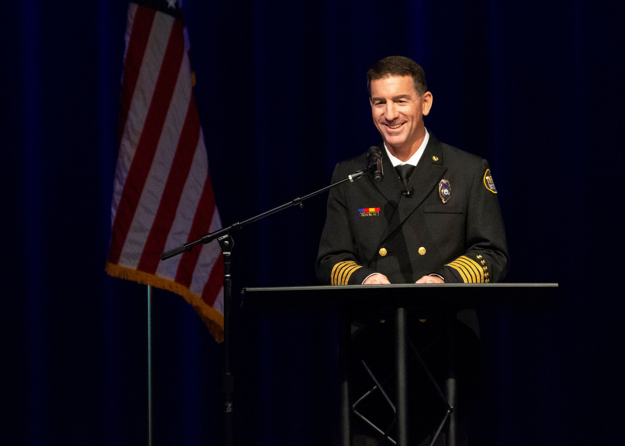 Chief Deric Weiss Speaks at Transfer of Command Ceremony