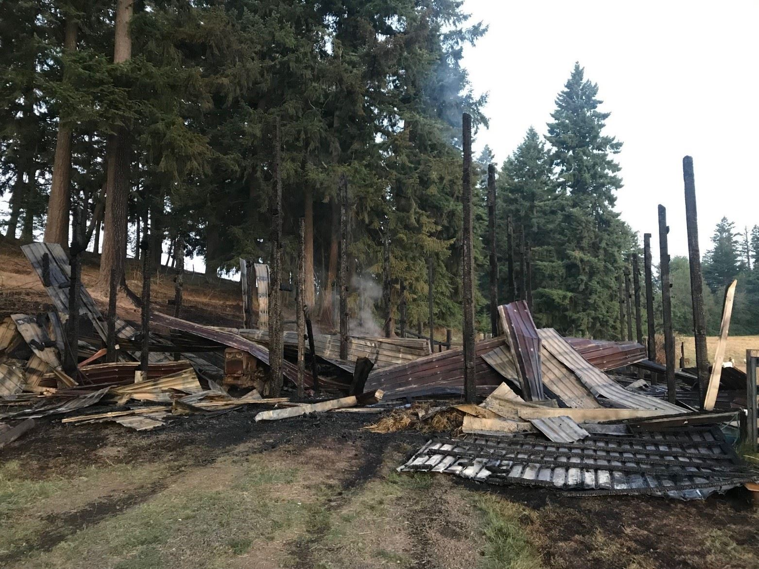Barn Fire in Helvetia