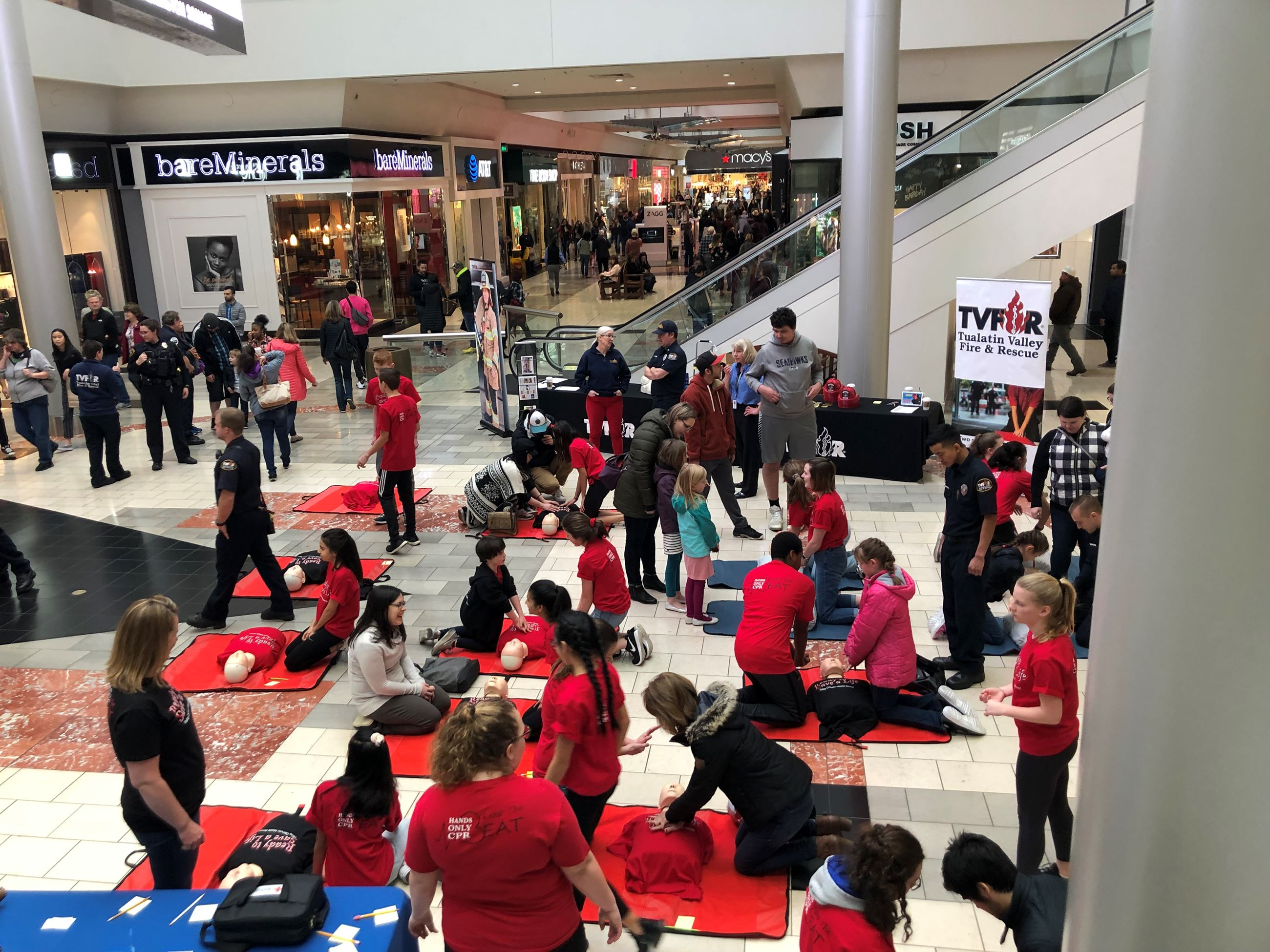 Last year's Washington Square Mall Hands Only CPR Event