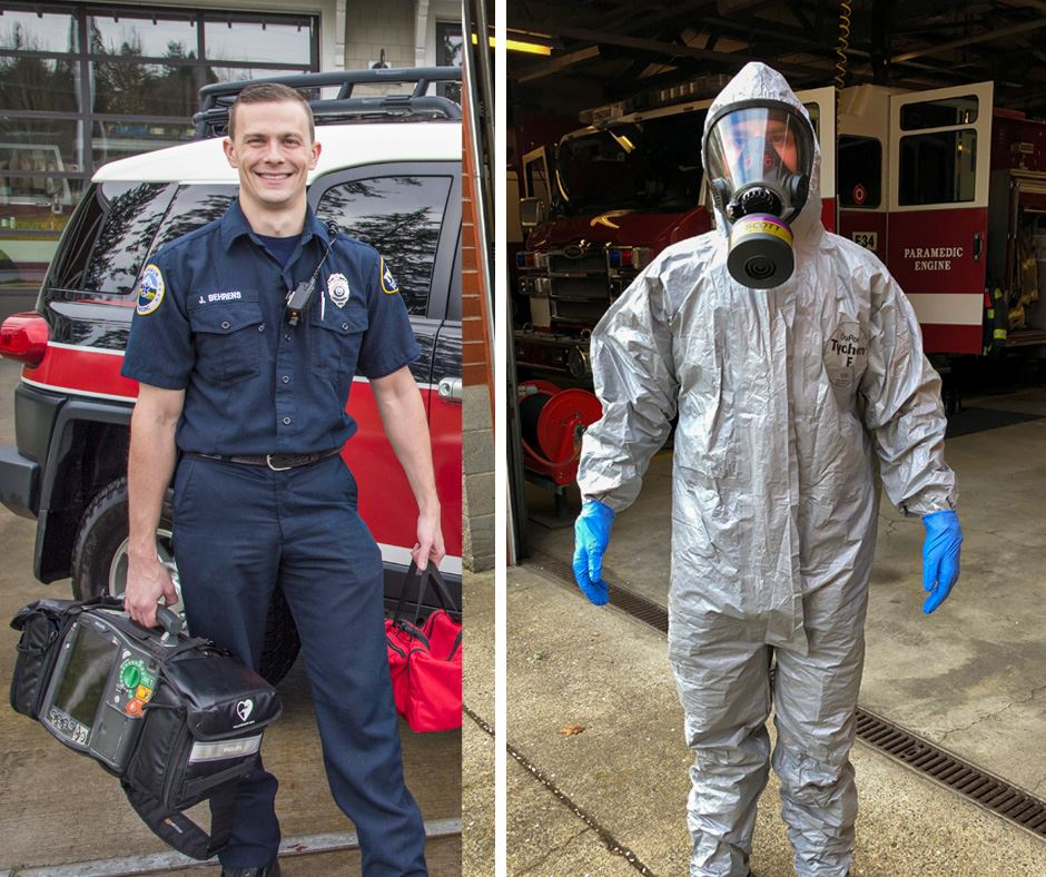 Firefighter PPE Before and After