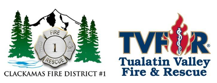 Clackamas Fire and TVF&R logos