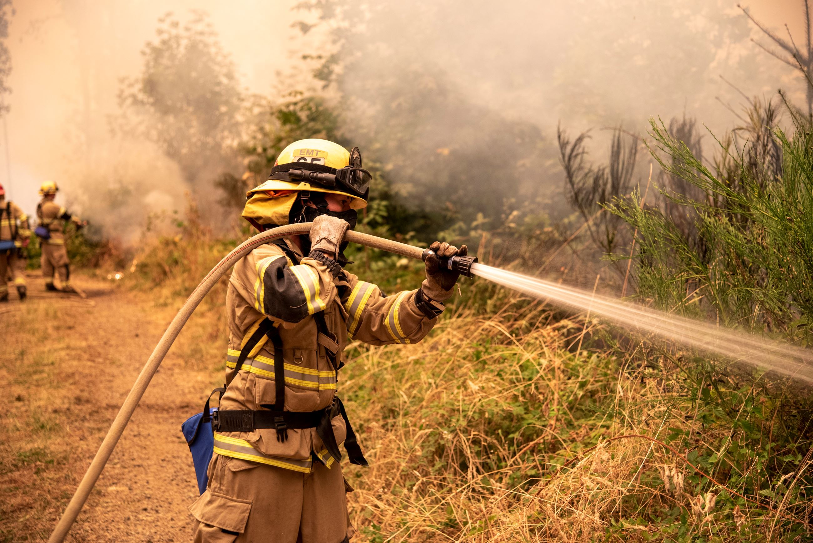 Firefighter working at Chehalem Mountain-Bald Peak Wildfire