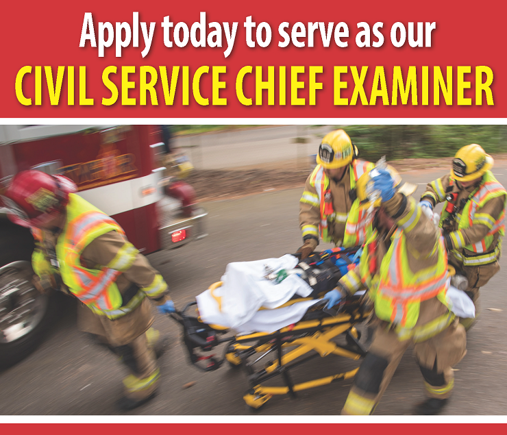 Apply to be our Civil Service Chief Examiner