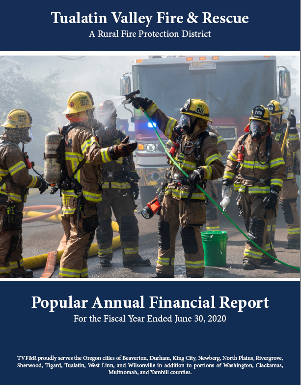 2020 Popular Annual Financial Report Cover