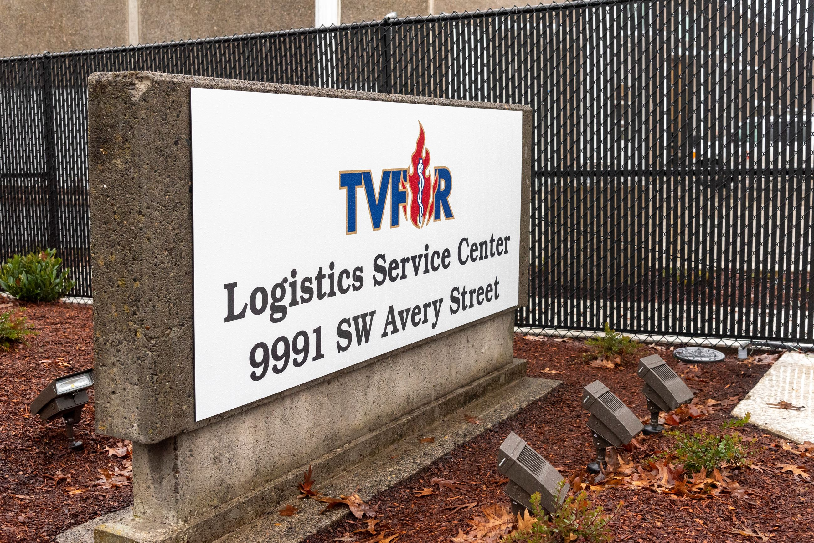 Logistics Service Center Sign