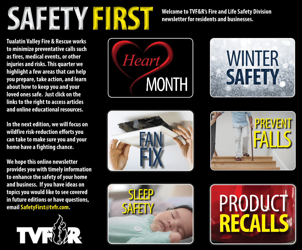SafetyFirst Newsletter Home Page-February 2021