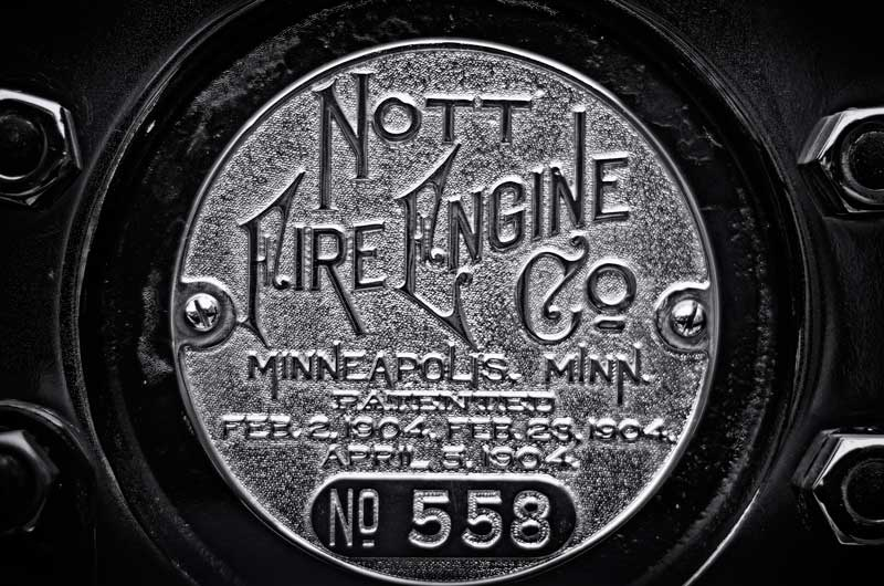 1904 Nott Fire Engine plate