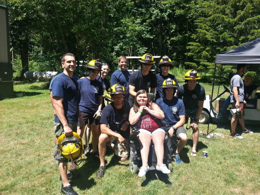Firefighters Attend MDA Camp